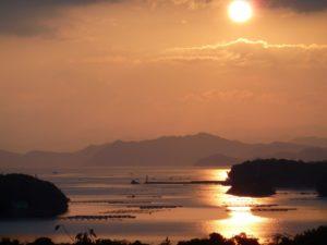 英虞湾と夕日