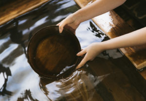 湯船と手桶