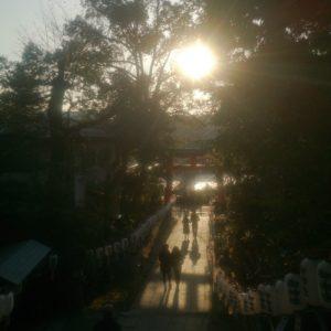 宇治神社の夕暮れ