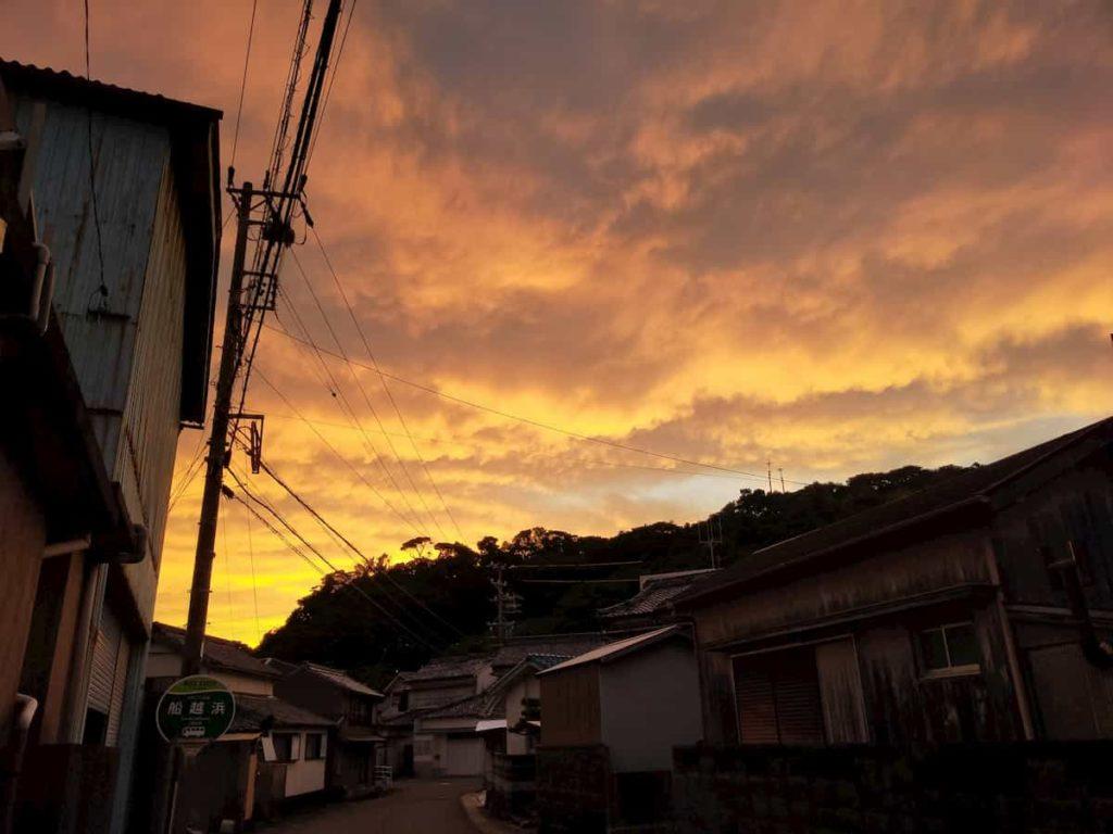 志摩市の夕日